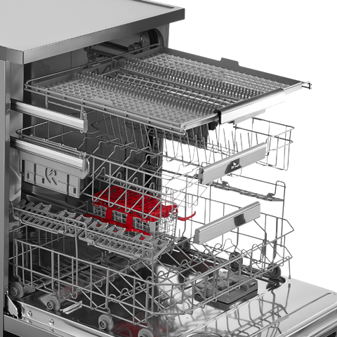 정수필터 채용 터치온 플러스 식기세척기 스탠드형 샤인실버 DWA81R0D