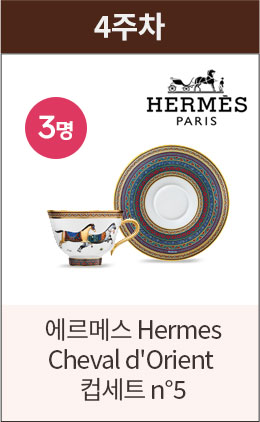 4주차 에르메슬 Hermes Cheval d'Orient 컵세트 n5 1명